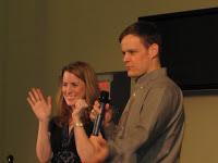 Trish & Steve on stage